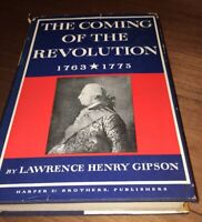 THE Coming Of The Revolution/by Lawrence Henry Gipson H/C D/J-1954 1st Ed