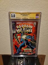 Marvel Super Heroes 13 cgc 3.0 SS Signed Roy Thomas 1st appearance Carol Danvers