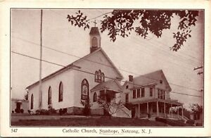 Vtg Catholic Church Stanhope Netcong New Jersey NJ Unposted Postcard