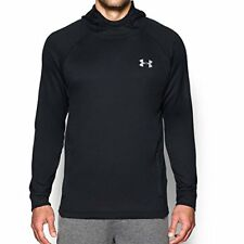 Under Armour Men's Tech Terry Popover Athletic Hooded Pullover Sweater Black XXL