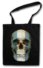 CLASSIC ARGENTINA SKULL FLAG STOFFTASCHE Flagge  Banner Fahne Argentinien