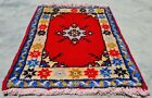 Authentic Hand Knotted Vintage Morocco Wool Area Rug 2 x 1 Ft (11959 KBN)