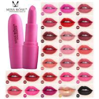 MISS ROSE Waterproof Long Lasting Lipstick Matte Lip Gloss Cosmetics Make up New