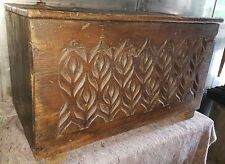 17thC & later oak coffer