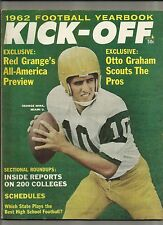 1962 Kick-Off Football Yearbook Magazine---George Mira
