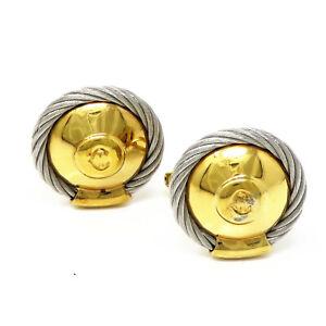 NYJEWEL Philippe Charriol 18K Gold & Steel Cufflinks