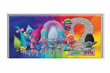 Trolls 40g Personalised Chocolate Bar Party Favor