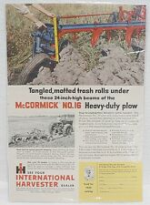 INTERNATIONAL HARVESTER McCORMICK HEAVY DUTY PLOW  MAGAZINE AD # 11