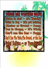 Beach Bar Weather Guide Metal Door Wall Sign Kitchen Sign Pub Sign Cocktail Bar