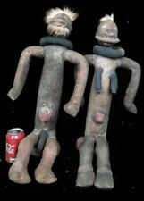 Old Tribal Large Bembe Couple Reliquary Puppet Figure -- Congo  BN 41
