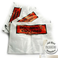 500 DL SIZE CLEAR PRINTED DOCUMENT ENCLOSED WALLETS 110 X 230MM PLASTIC POCKETS