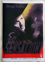 XL HiQ Facsimile of 1941 Citizen Kane Movie Poster~ 36 x 26 ~Swedish,Gosta Aberg