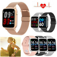 Damen Herren Smartwatch Pulsuhr Blutdruck Armbanduhr für iPhone Samsung LG G7 G6