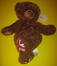 Build-A-Bear UK EXCLUSIVE UNION JACK JOINTED FLAG TEDDY England 16in