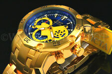 Invicta Men's Pro Diver Scuba 3.0 Chrono 18K Gold Plated Blue Dial S.S Watch NEW