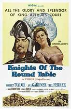 KNIGHTS OF THE ROUND TABLE Movie POSTER 27x40 B Robert Taylor Ava Gardner Mel