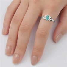 USA Seller Oval Ring Sterling Silver 925 Best Deal Jewelry Turquoise Size 8