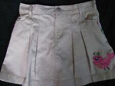 Gymboree Brown Pleated Skirt Bird Skort Size 7