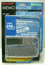 SHARP YO-180P Memo Master Electronic Organizer BackLight NEW Open Pack Working