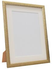 Glitz Gold Picture Photo Frame with White, Black, Ivory and other Colour Mounts