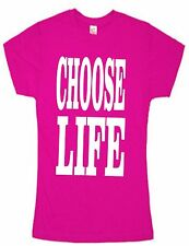 80s Retro ladies T SHIRT SLIM FIT OR OVERSIZED FIT CHOOSE LIFE  SMALL TO XXL