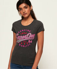 Superdry Damen Airtex T-Shirt In Folienoptik