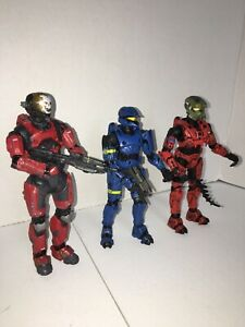 Halo Soldier Action Figure Lot Of 3