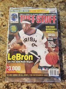 LeBron James June 2003 TUFF STUFF Cover #1 Rookie - Factory Sealed Plastic MINT