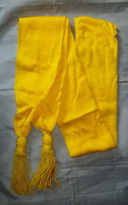 """Hand Made Wool Cavalry Officer's Sash - (Yellow) - Civil War/Re-Enactor - """"New"""""""