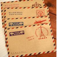 10 Sheets Vintage Envelope Postcard Letter Stationary Storage Paper Stationery