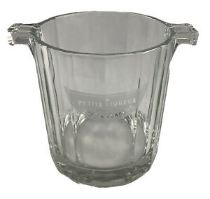 """Etched Crystal Moet & Chandon Petite Liqueur Champagne Ice Bucket 5""""Tall 4.5 Dia"""