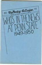 Pennsylvania State College - Who's In The News, 1949-1950 - Names / short Bio's