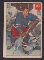 1954-55 PARKHURST # 83  IKE  HILDEBRAND  VG+ CONDITION   INV 9607