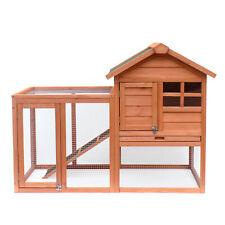 """48"""" Large Indoor Outdoor Rabbit Cage Hutch Chicken Coop Wood Wooden Pet House"""