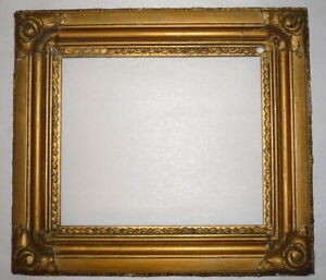 """Victorian 19th Century Gold 10"""" x 8.5"""" Gesso Closed End Picture Art Frame #1"""