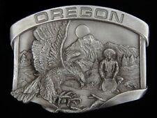 Belt Buckle New! Nice! Oregon State Wilderness Scene Pewter