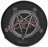 Official Licensed Merch Woven Sew-on PATCH Heavy Metal Rock SLAYER Pentagram