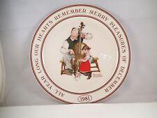 Hallmark Little Gallery Collector Plate Norman Rockwell December Christmas