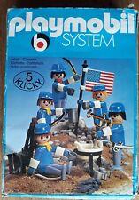 Playmobil system 5 klicky art 3242 soldats nordistes avec drapeau américain