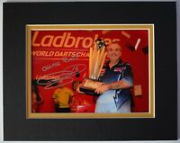 Phil 'The Power' Taylor Signed Autograph 10x8 photo display Darts AFTAL & COA
