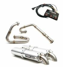 TRINITY RACING BRUSH DUAL FULL SYSTEM EXHAUST + EFI ARCTIC CAT WILDCAT 1000/X/4