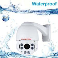 360° PTZ Ultra HD 2.0MP Dome IP Camera 150ft NightVision IP66 Waterproof P2P-CA