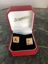 Sterling Silver Scrabble Cufflinks, Letters A & Z, New In Box