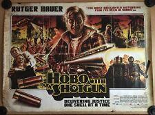 Very Rare - Hobo With A Shotgun - Original Cinema Quad Poster - The Dude Designs