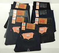 LEVIS MEN'S 501 BUTTON FLY SHRINK TO FIT JEANS STRAIGHT FIT ORIGINAL