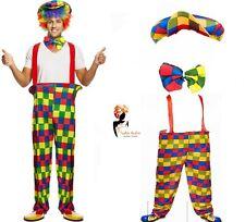Adult CLOWN COSTUME Halloween Fancy Dress Circus Carnival Women Men's Outfit Lot