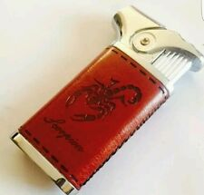 The  Scorpion Style leather Windproof Gas Jet flame cigarettes Lighter Uk Seller