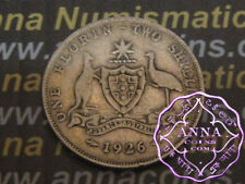 Australia 1926 George V Florin X1, Average Circulated Condition