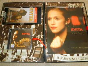 MADONNA EVITA (movie)  Limited Edition Box Set (CD + VHS Video + Book) very rare