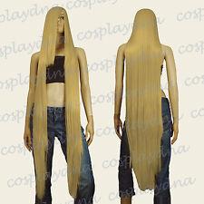 """50"""" Heat Resistant Long Straight Wigs w 22"""" Long Bangs Beige Blonde Cosplay 9986"""